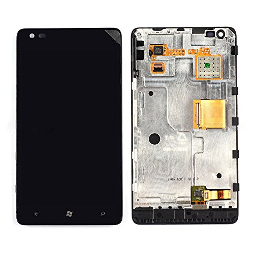 New Nokia Lumia 900 AT&T Touch Digitizer +LCD Display Assembly With Frame (Nokia Lumia 900 Parts compare prices)