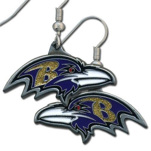 NFL Baltimore Ravens Dangle Earrings