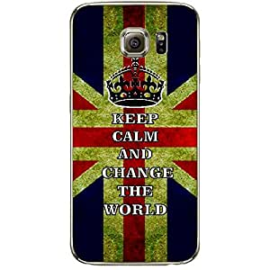 Skin4gadgets Keep Calm and Change the World - Colour - UK Flag Phone Skin for SAMSUNG GALAXY S6 EDGE PLUS
