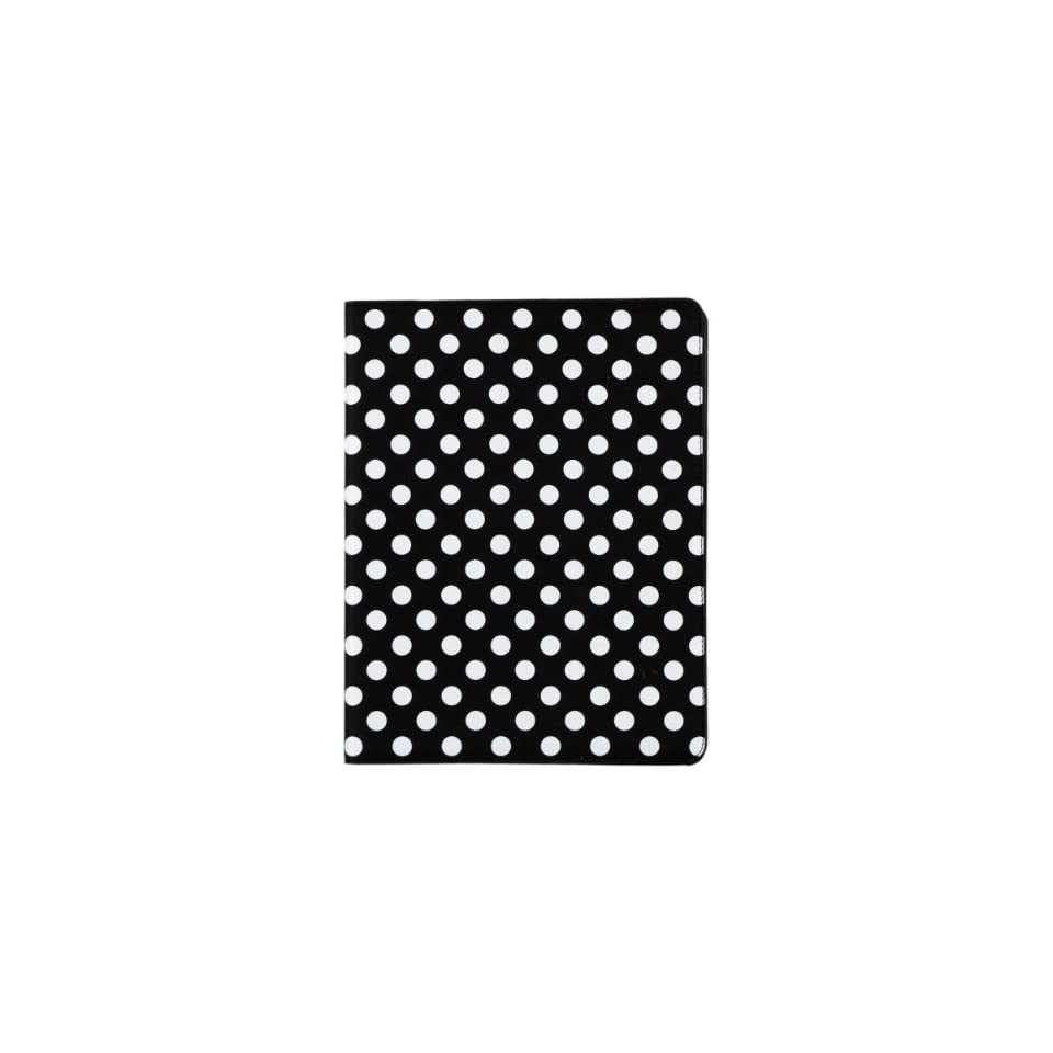 White and Black Polka Dot Pattern Hard Case For iPad 2