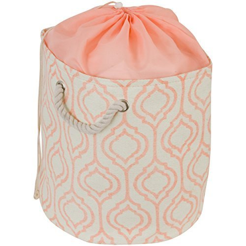 drawstring-sealable-laundry-bag-tote-with-rope-handle-small-cream-and-orange-by-raymond-waites