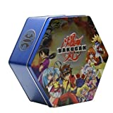 Blue, Silver, Black, or Green Bakutin Collector's Tin Filled with 18 Bakugan, B2 Bakupearl, Bakugan Series 1 and /Or Heavy Metal Bakugan Random Marbles with 36 Cards! ~ Spin Master, Sega Toys