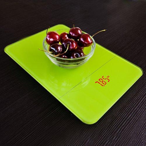 SoBuy EKW02-GR Balance de cuisine électronique, balance culinaire avec fonction Tare, 10kg / 1g-2g. Page Vert