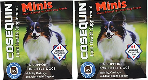 Nutramax Cosequin ★ JOINT HEALTH SUPPLEMENT ★ MOIST MINIS FOR SMALL DOGS 45 COUNT BAG ★ #1 VETERINARIAN RECOMMENDED BRAND (2 BAGS) (Pampered Pets 2 Ds compare prices)