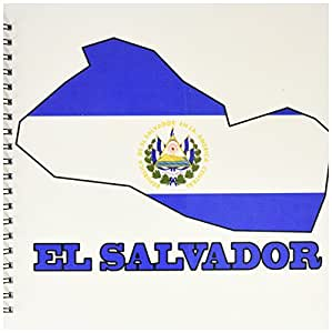 3dRose db_58776_2 El Salvador Flag in The Outline Map and ...