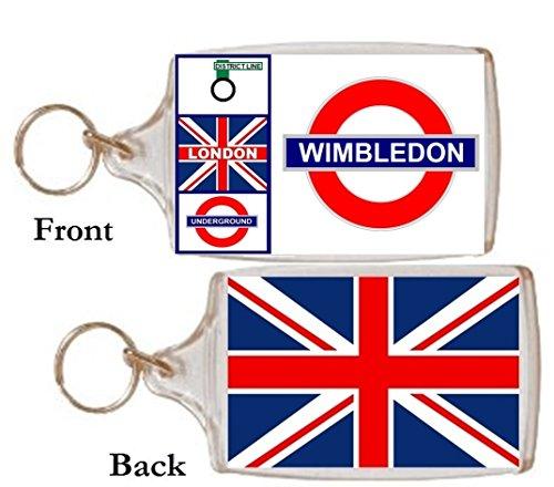 Schlüsselring Wimbledon Geschenk Tourist Souvenir Mit Englisch Wörter