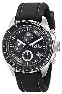 Fossil CH2573 - Reloj analógico de cuarzo para hombre con correa de piel, Color Negro por Fossil