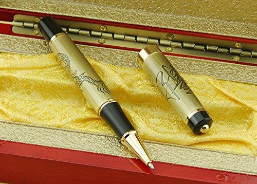 Bronce Lanxivi Jinhao de dragón chino camiseta de bolígrafo de punta redonda o cama de matrimonio con caja de regalo