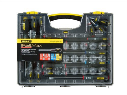 Stanley 562572 FatMax Screwdriver Set Parallel / Flared / Phillips / Pozi (20 Pieces)