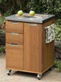 Home Styles 5700-95 Montego Bay Outdoor Patio Cart, Eucalyptus Finish (Discontinued by Manufacturer)