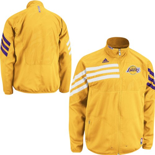 NBA adidas Los Angeles Lakers On-Court Warm-Up Jacket - (Large) at Amazon.com
