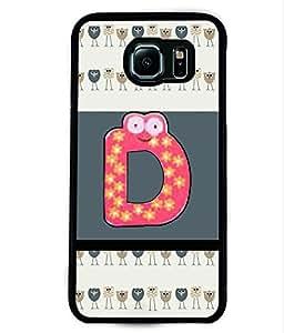 PRINTVISA Star pink D Premium Metallic Insert Back Case Cover for Samsung Galaxy S6 - D5989