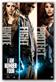 I Am Number 4 Movie Poster - Characters (Alex Pettyfer Dianna Agron Teresa Palmer) Art Print Poster