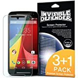 Moto G 2014 Screen Protector - Invisible Defender Moto G 2nd Gen. 2014 [3+1 Free/MAX HD CLARITY] Lifetime Warranty Perfect Touch Precision High Definition (HD) Clarity Film (4-Pack) for Motorola Moto G 2ND Gen. 2014
