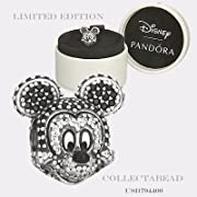 Authentic Pandora Sterling Silver Sparkling C.Z Mickey Portrait Bead 794400