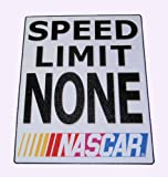 Nascar Speed Limit Metal Sign