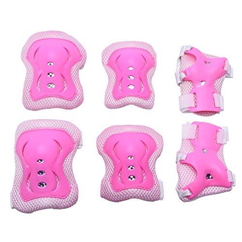 Mudder-Kids-Knee-Elbow-Wrist-Pads-Guards-Set-Pink
