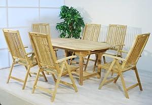 Teak Holz Gartenmöbel Set ~ Divero gartenmöbel set teakholz unbehandelt tisch 170 230cm top