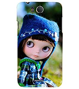 PRINTSHOPPII DOLL CUTE Back Case Cover for InFocus M530