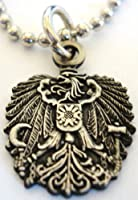 Austrian Eagle Maltese Cross Pendant Necklace w/ Ball Chain by GeoPromotions