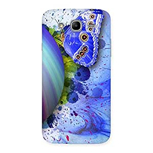 Blue Shell Butterfly Back Case Cover for Galaxy Mega 5.8