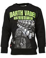 LEGO Wear Jungen Sweatshirt LEGO Star Wars Darth Vader STORM 751