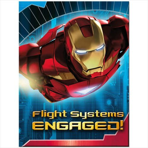 Iron Man Invitations and Thank You Notes w/ Envelopes (8ct ea.) (Iron Man Invitations compare prices)