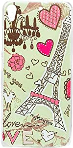 Purple Eyes Exclusive Printed Hard Back Case for Gionee ELife S5.1 Pro (Lovely Eiffel Tower)