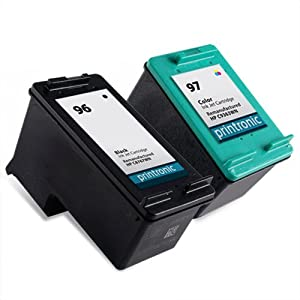 Remanufactured Ink Cartridge Replacement for HP 96 HP 97 (1 Black 1 Color 2 Pack)
