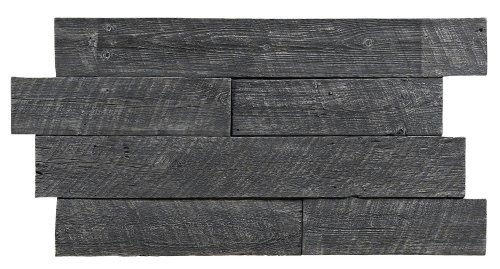 Texture Plus Indoor/Outdoor Siding Panel, Rustic Barn Wood, Gray - Interlocking