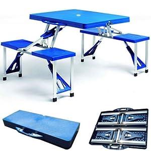 Set pic nic alluminio abs tavolo 4 sedie richiudibile a valigia campeggio 973384 - Tavolo pic nic decathlon ...