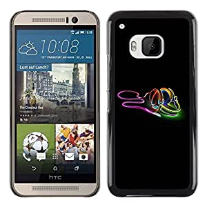 Omega Covers - Snap on Hard Back Case Cover Shell FOR HTC ONE ( M9 ) - Neon earphones