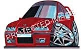 BMW M3 6 Red Car Sticker Decal - Koolart