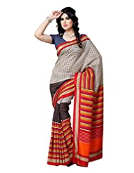 101cart Multi Color Art Silk Party Wear Saree - B00RHSBF1G