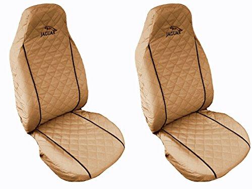 Nuovo tipo di sedile anteriore copre per Jaguar F-,, X-Type S-Type, XF, XJ Nero Piping