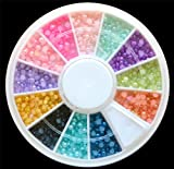 Color Pearl Nail Art Stone Small Wheel Rhinestones Beads