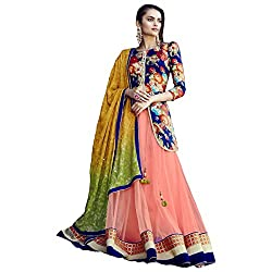 Aagaman Fashion Net Lehenga Cholis (TSN88014_Peach)