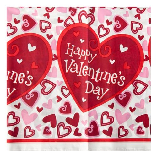 Be Mine 54in x 102in Plastic Table Cover