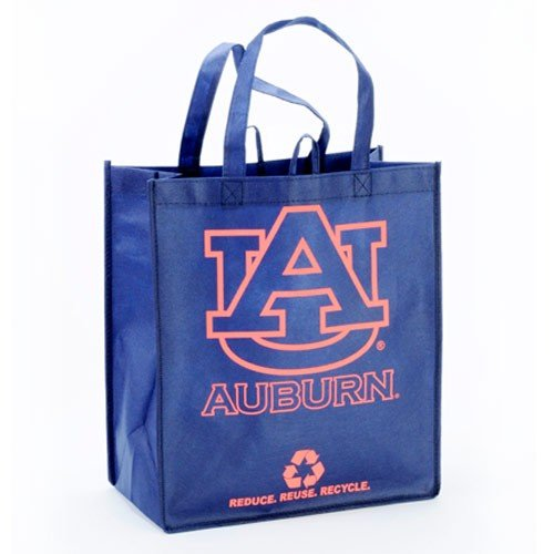 NCAA Auburn Tigers Navy Blue Reusable Tote Bag at Amazon.com
