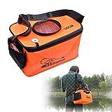 (inkint)活かし水くみ 折り畳みバケツ EVAフィッシングトートバッグ ポータブル オレンジ