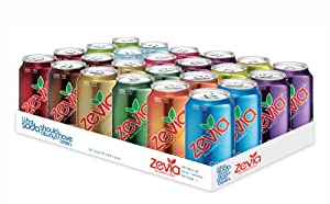 Zevia All Natural Soda, Rainbow Case, 12-Ounce Cans (Pack of 24)