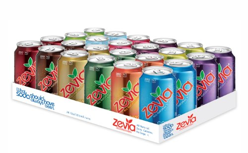 Zevia All Natural Soda, Rainbow Pack, 12 Ounce (Pack of 24) Frustration Free Package