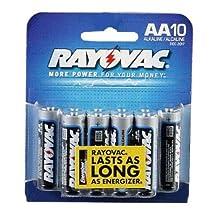 Rayovac 815-10CTE AA Alkaline Batteries - 10 Pack