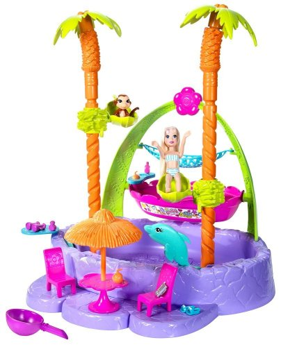 Buy Low Price Mattel Polly Pocket Tropical Splash Adventure Play Set Figure (B002TRLTAW)