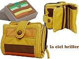 (ラ シェル)La ciel briller 2 二つ折り 財布 YE/OR/イエロー/オレンジ(DKW-90038YEOR)