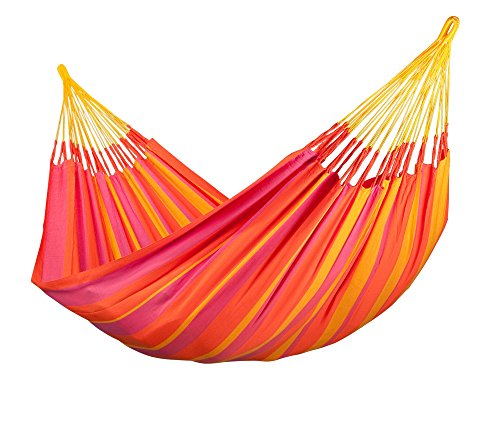 La Siesta Sonrisa Colombian Open Loop Style And Rip Proof Double Hammock, Mandarin