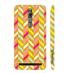 Asus Zenfone 2 Woody Zag designer mobile hard shell case by Enthopia