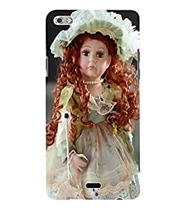 Fuson 3D Printed Cute Doll Designer Back Case Cover for Micromax Canvas Sliver 5 Q450 - D722