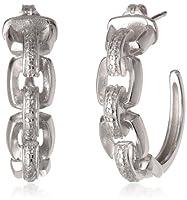 Link Chain Design J-Hoop Earrings from PAJ, Inc