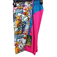 Shorts Performance Ripping The Duck Hot Pink Neon Blue Size Youth Large